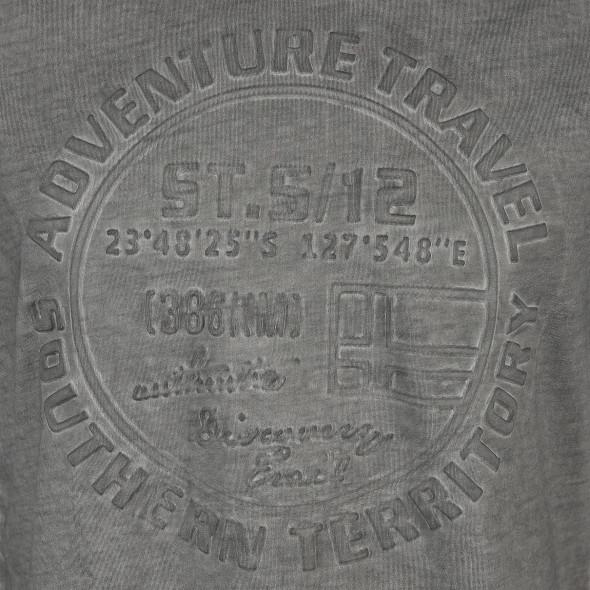 Herren Shirt mit effektvollem Prägeprint