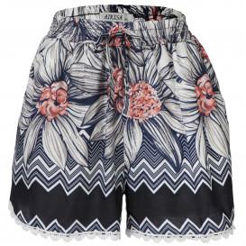 Damen Shorts mit Spitzenborte