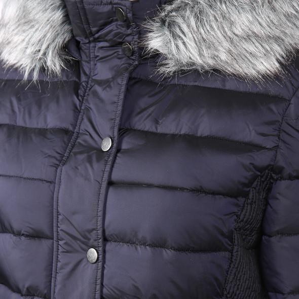 Damen Jacke mit Kapuze und abnehmbarem Kunstfell