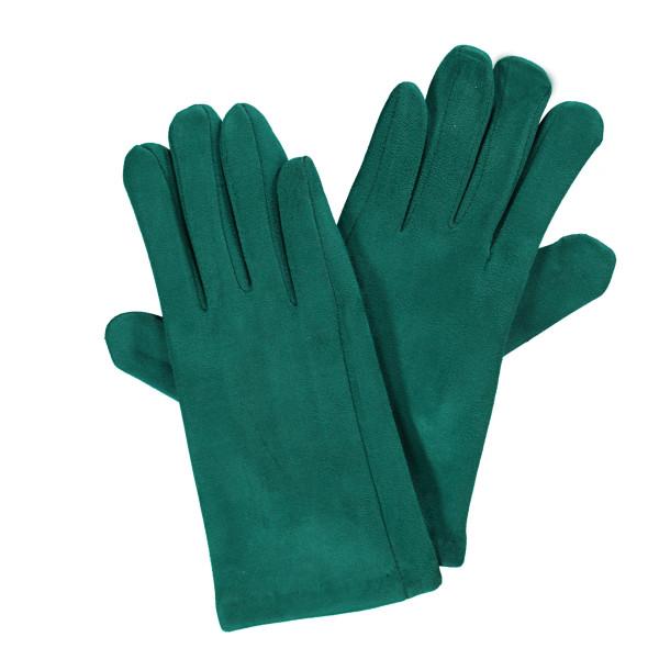 Damen Handschuhe in Velour Optik