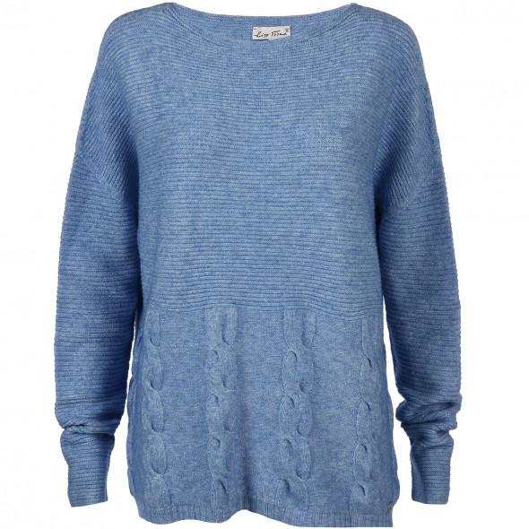 Damen Sweatshirt im Rippmuster