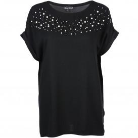 Damen Shirt mit Perlenbesatz