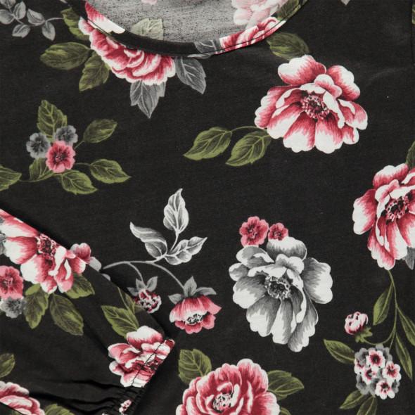 Mädchen Langarmshirt mit floralem Print