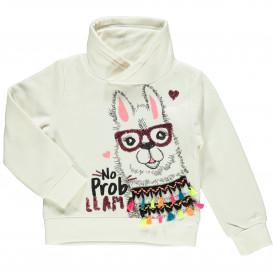 Mädchen Sweatshirt mit Lama Frontprint
