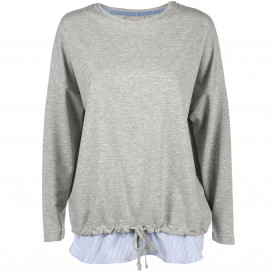 Damen Sweatshirt mit angesetztem Blusenteil