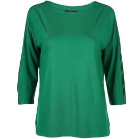 Damen Shirt mit Galonstreifen und 3/4 Arm