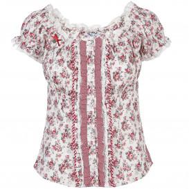Damen Trachten Bluse im Millefleur Print