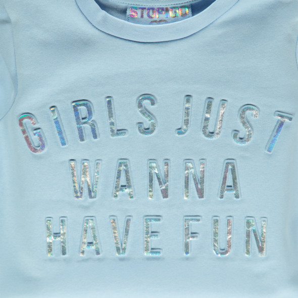 Mädchen Sweatshirt mit Glitzerprägedruck