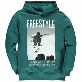 Jungen Sweatshirt mit Frontprint und Kapuze