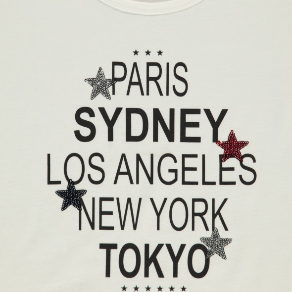 Mädchen Shirt mit Print und Pailletten