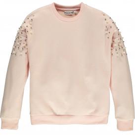 Mädchen Sweatshirt mit Perlen