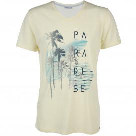 Herren Shirt mit V-Ausschnitt und Print