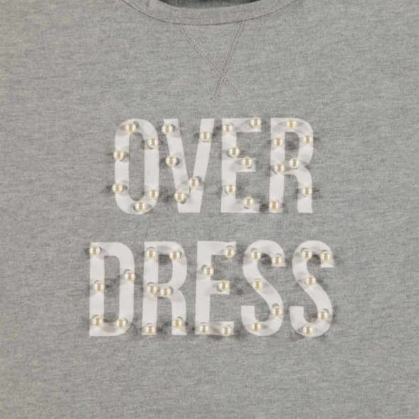 Mädchen Sweatshirt mit Perlenbesatz