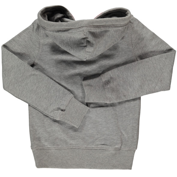 Mädchen Sweatshirt mit Samtprint