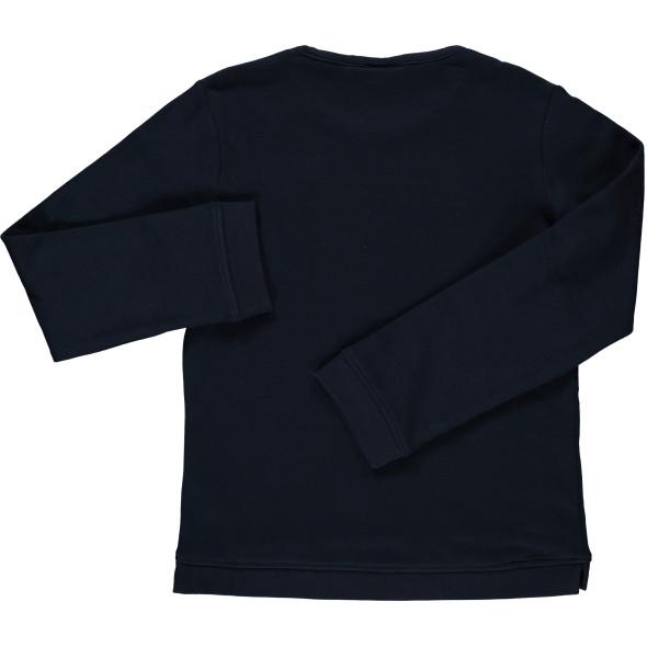 Mädchen Sweatshirt mit effektvollem Paillettenmotiv