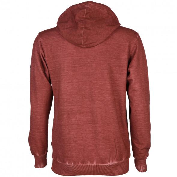 Herren Kapuzensweatshirt mit effektvollem Prägeprint