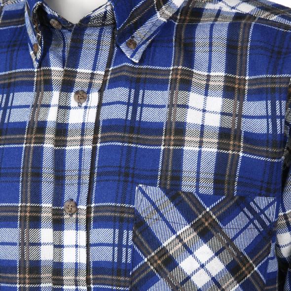 Herren Flanellhemd mit Brusttasche