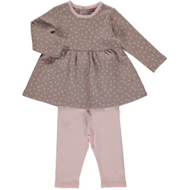Baby Mädchen 2er Set, best. aus Kleid und Leggings