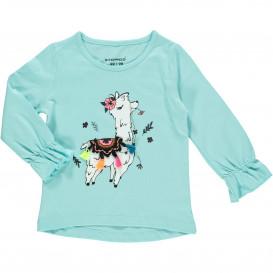 Mädchen Langarm Shirt mit Glitzerprint