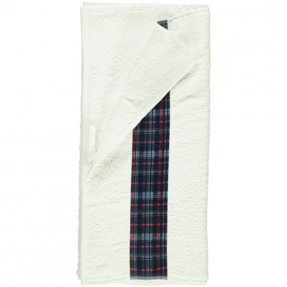 Handtuch mit Karo-Borte 50x90cm
