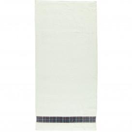Duschtuch mit Karo-Borte 70x140cm