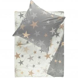 Feinbiber Bettwäsche mit Sternen 155x220cm