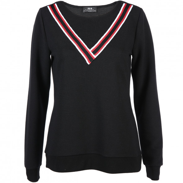 Damen Sweatshirt im Ripp-Muster