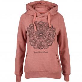 Damen Sweatshirt mit Kapuze und Print