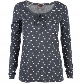 Damen Langarmshirt mit Allover Print