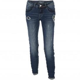 Damen Jeans mit Abnutzungsdetails und Pailletten