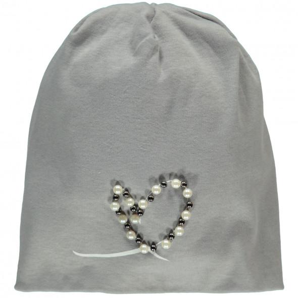Damen Beanie Mütze mit Perlen