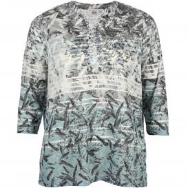 Große Größen Ausbrenner Shirt mit 3/4 Armlänge