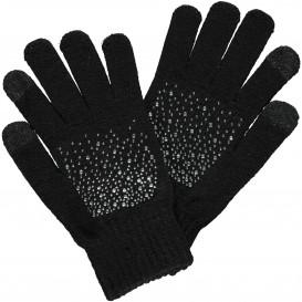 Damen Handschuhe mit Strasssteinchen