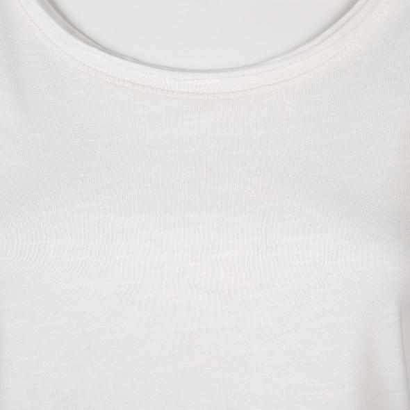 Damen Shirt mit aufgerollten Kanten