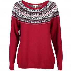 Damen Pullover mit Jaquard Muster