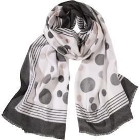 Damen Schal mit Punkten und Streifen