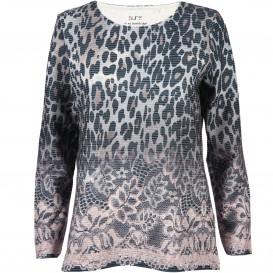 Damen Pullover im Leo-Print