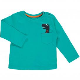 Baby Langarmshirt mit Tasche und Print
