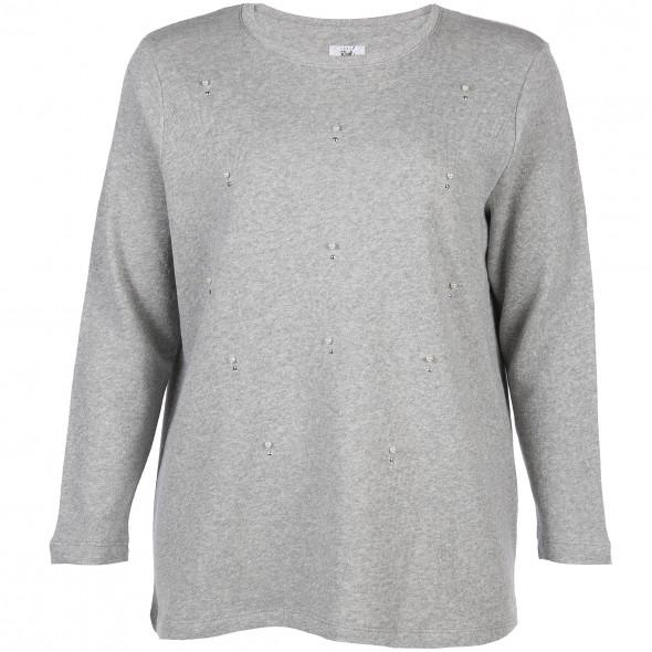 Große Größen Sweatshirt mit Perlen