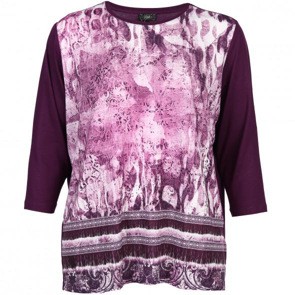 Große Größen Shirt mit effektvollem Muster