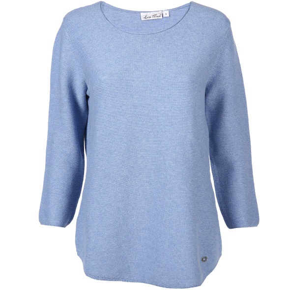 67f5530df571b6 Damen Strickpullover mit 3/4 Arm (Blau) | AWG Mode