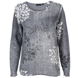 Damen Pullover mit Print und Glitzernieten