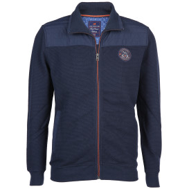 Herren Outdoor Cardigan im Materialmix
