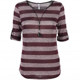 Damen Shirt im Streifenlook mit 3/4 langem Arm
