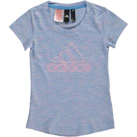 Mädchen Sportshirt in melierter Optik