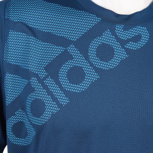 Herren Sportshirt mit schrägem Print