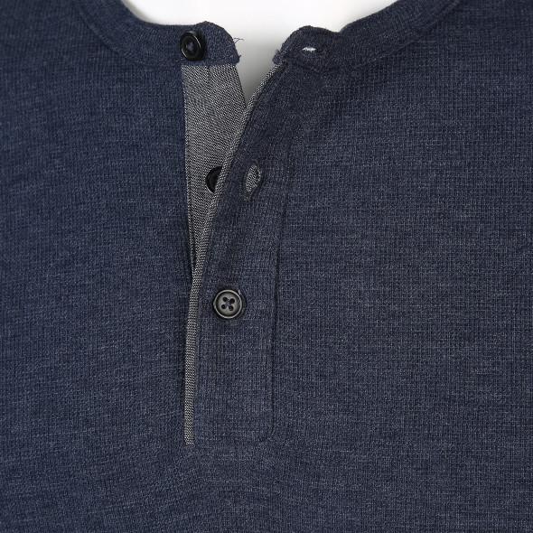 Herren Shirt mit kurzer Knopfleiste