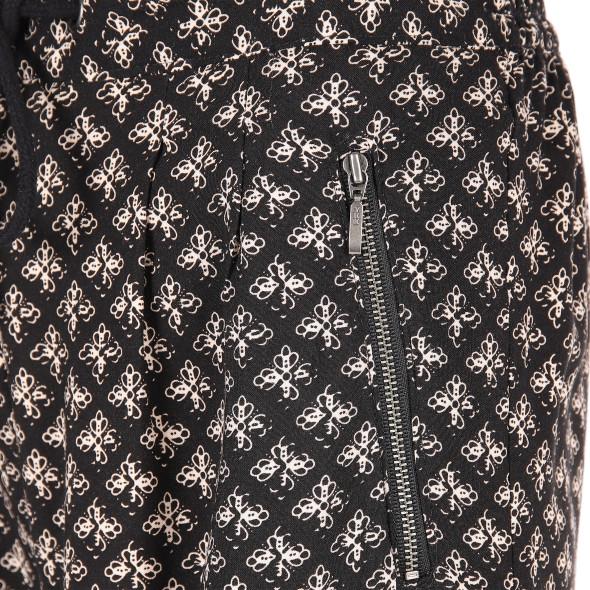 Damen Schlupfhose mit Minimalprint