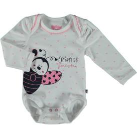 Baby Body mit Glitzer Print