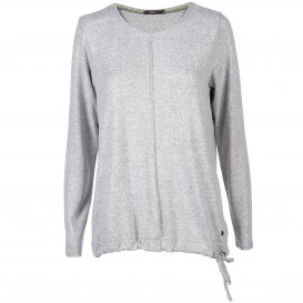 Damen Shirt mit Tunnelzug am Saum